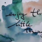 enjoy / Aquarell auf Postkarte / 2017 / 105x148mm