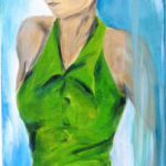 lady in green / Acryl auf Leinwand / 2012 / 30×90